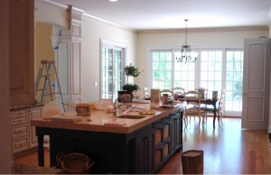 Improve the kitchen area with satin paint which provides the surface with a subtle sheen.